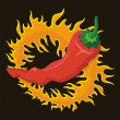 Pepper with flame — Stockvektor #34869331