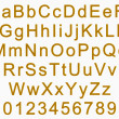 Alphabet and numbers - golden — Stock Photo