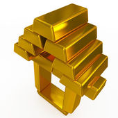 Gold bars structure — Stock Photo