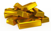 Gold bars pile — Stock Photo
