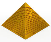 Pyramid golden — Stock Photo