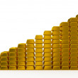 Gold bars chart — Stock Photo #20057203