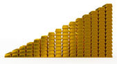 Gold bars chart — Stockfoto