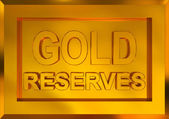 Gold reserves — Stock Photo