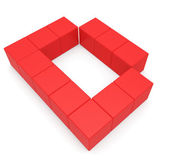 Letter D cubic red — Stock Photo