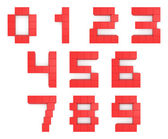 Numbers 3d cubic red — Stock Photo