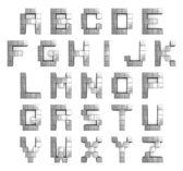 Alphabet 3d cubic metal — Stock Photo