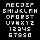 Alfabeto e números de estilo origami — Vetorial Stock