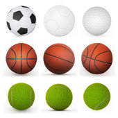 Sport balls collection — Stock Photo