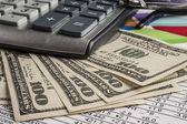 Money and calculator — Stock Photo