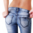 Fit female butt in jeans — Stock Photo #12486639