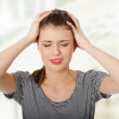 Teen woman with headache — Stock Photo #13254871