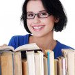 Happy smiling young student woman with books — Stock Photo #13266260