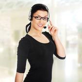 Attractive customer support representative — Stock Photo