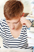 Teen boy learning — Stock Photo