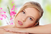 Young beautiful blond teen — Stock Photo