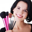 Young make-up artist woman — Stock Photo