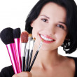 Young make-up artist woman — Stock Photo #16933315