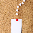 Note paper on cork board — Stock Photo