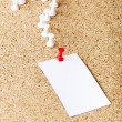 Stock Photo: Note paper on cork board