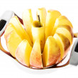 Stock Photo: Fresh apple sliced with slicer