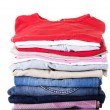 Stack of clothing - Stock Photo