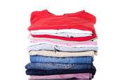 Pilha de roupa — Foto Stock
