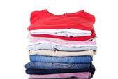 Stack of clothing — Foto Stock