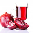 Stock Photo: Pomegranate juice