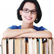Young caucasian woman (student) with books — Stock Photo #22457807