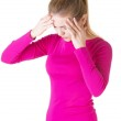 Teen woman with headache — Stock Photo