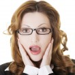 Shocked businesswoman — Stock Photo #25600583