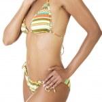 Tanned woman body in bikini. — Stock Photo