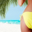 Buttocks of young fit woman — Stock Photo