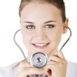 Female doctor with stethoscope — Stock Photo #26839865