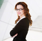 Portrait of success businesswoman — Stock Photo