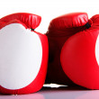 Red leather boxing gloves  — Photo