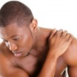 Young man with back pain — Stock Photo