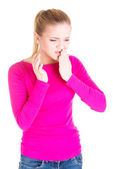 Teen woman having a terrible tooth ache. — Stock Photo