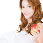 Dieting woman portrait — Stock Photo
