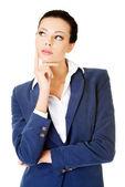 Giovane imprenditrice attraente. espressione del viso. pensiero. — Foto Stock