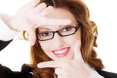 Snapshot of business woman in eyeglasses. — Stock Photo