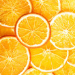 Slices of orange, close up. — Stock Photo