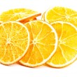 Slices of orange over white. — Stock Photo #36001423