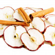 Slices of apple with cinnamon. — Stock Photo