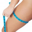 Female's hips with measuring tape. — Stock Photo #36003813