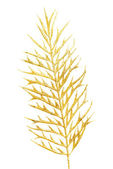 Picture of a gold separate twig. — Stock Photo