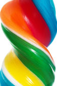 Close up on longitudinal and colorful lollipop. — Stock Photo