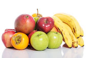 Fruit composition over white. — Stock Photo