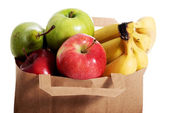 Fruits in a paper bag. — Stock Photo
